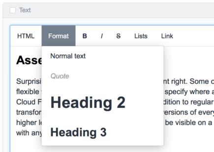 Custom toolbar in WYSIWYG editor