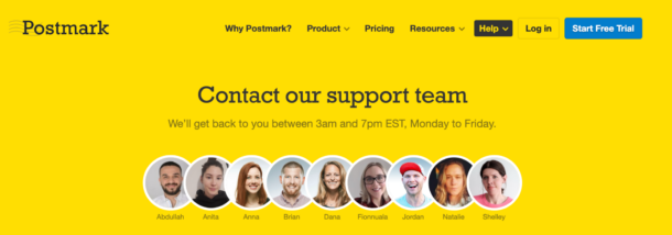 Postmark's support team