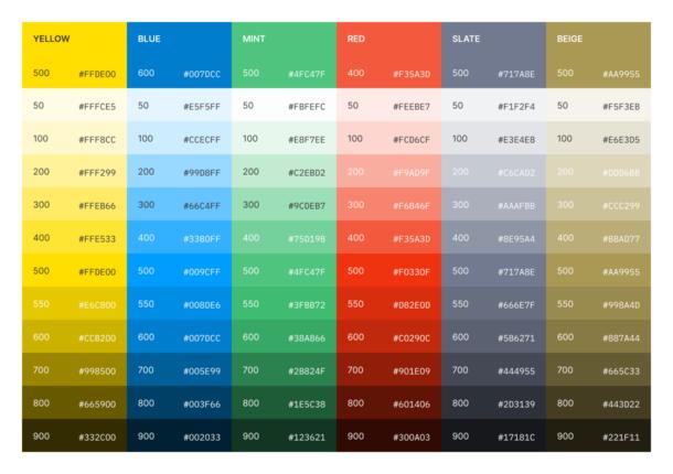 Postmark Color System v1 with inconsistent lightness